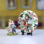 Personalized Christmas Dial Table round clock 006 Size 5.5 X 5.5 Inch