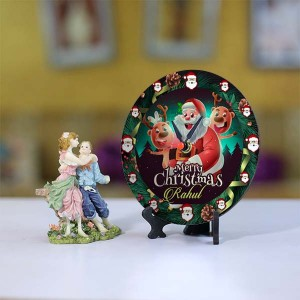 Personalized Christmas Dial Table round clock 008 Size 5.5 X 5.5 Inch