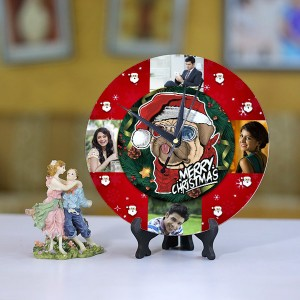 Personalized Christmas Dial Table round clock 01 Size 8 X 8 Inch
