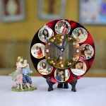 Personalized Christmas Dial Table round clock 02 Size 8 X 8 Inch