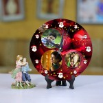Personalized Christmas Dial Table round clock 03 Size 8 X 8 Inch