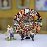Personalized Christmas Dial Table round clock 05 Size 8 X 8 Inch