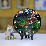 Personalized Christmas Dial Table round clock 06 Size 8 X 8 Inch