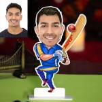 Personalized Cricketer Caricature Photo Stand In