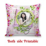 Personalized Cushion both side photo print brother sister gift 02