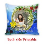 Personalized Cushion both side photo print brother sister gift 03