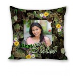 Personalized Cushion both side photo print brother sister gift 05