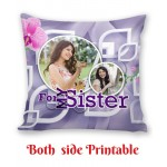 Personalized Cushion both side photo print brother sister gift 07
