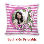 Personalized Cushion both side photo print brother sister gift 09