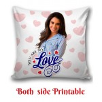 Personalized Cushion one side photo back side message Love gift 01