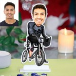 Personalized Cyclist Caricature Photo Stand In