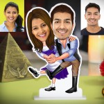 Personalized Dancing Couple Caricature Photo Stand In