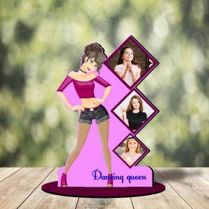 Personalized Darling Queen MDF cutout photo collage stand