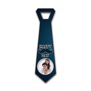 Personalized decorative navy blue pattern wall hanging tie design