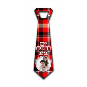 Personalized decorative red & black check  wall hanging tie design