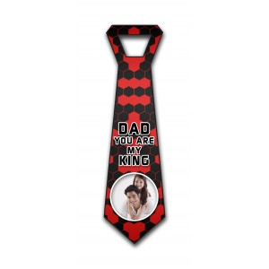 Personalized decorative red polygonal checks wall hanging tie design