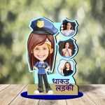 Personalized Dhakad Ladki MDF cutout photo collage stand
