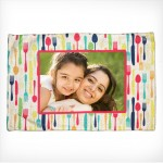 Personalized Dining Mat spoon fork design with photo