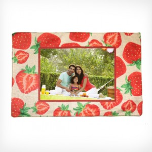 Personalized Dining Mat strawberry design with photo