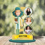 Personalized Doctor MDF cutout photo collage stand