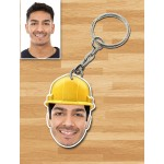 Personalized Engineer Caricature Key Ring