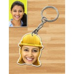 Personalized Engineer Female Caricature Key Ring