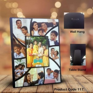 Personalized family 9 pic multi layer MDF frame