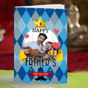 Personalized Fathers Day Greeting Card 005