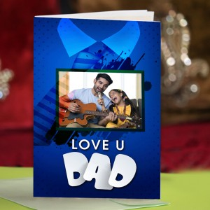 Personalized Fathers Day Greeting Card 006
