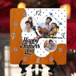 Personalized Father's Day Table Top Clock design 01