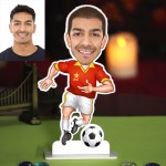 Personalized Footballer Caricature Photo Stand In