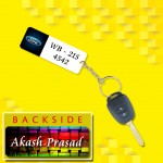 Personalized Ford Car key ring with name and number and logo