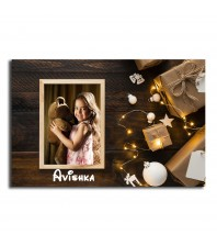 Personalized Fridge Magnet Christmas lights