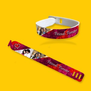 Personalized friendship band with photo and message 03