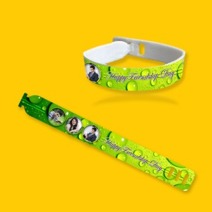 Personalized friendship band with photo and message 06