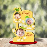 Personalized Fruity Tasty MDF cutout photo collage stand