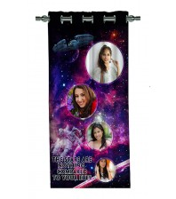 Personalized Galaxy Theme Photo Curtain