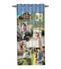 Personalized Goa Memories Photo Curtain