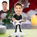 Personalized Guitarist Caricature Photo Stand In