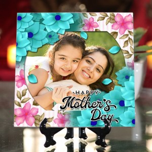 Personalized Happy Mother's Day ceramic Tile design 03