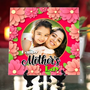 Personalized Happy Mother's Day ceramic Tile design 06