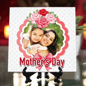 Personalized Happy Mother's Day ceramic Tile design 07