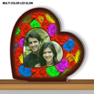 Personalized Heart Designer multi color glow in dark LED frame 002
