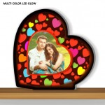 Personalized Heart Designer multi color glow in dark LED frame
