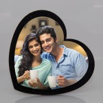 Personalized heart shape photo stand- 13 cm x 13 cm