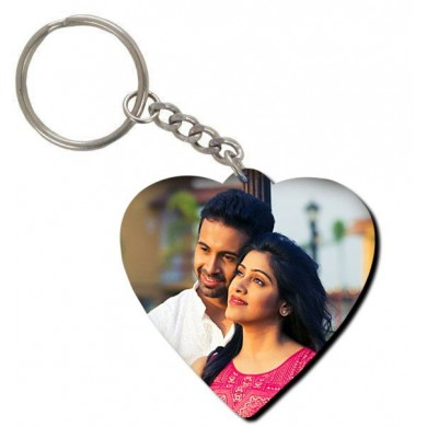 Personalized Heart Shaped Key Ring