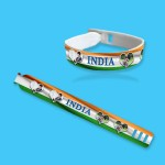 Personalized Independence Day band with photo and message 02