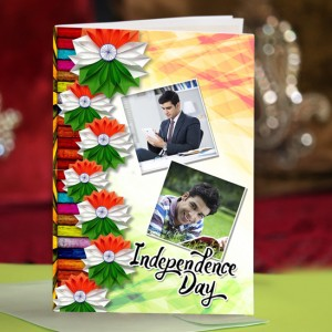 Personalized Independence Day Greeting Card 001