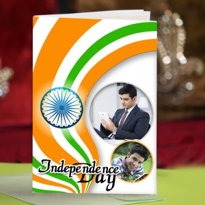 Personalized Independence Day Greeting Card 007