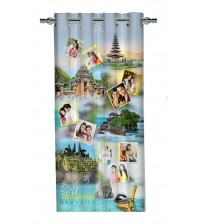 Personalized indonesia Memories Photo Curtain